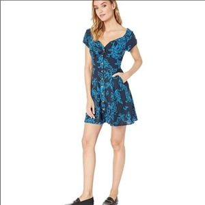 Free People A Thing Called Love Mini Dress Blue 0
